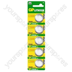 GP Lithium Button Cell Strip of 5 - Type CR2430-C5