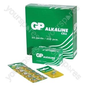 GP Alkaline Button Cell Strip of 10 - Type 191-C10