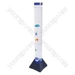 Cheetah 1m LED Colour Changing Bubble Column With Artificial Fish - Colour Black Base
