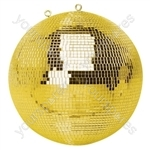 FX Lab Gold Mirror Ball with Dual Hanging Points