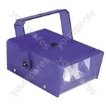 FX LAB Blue 14 W Plastic Mini Strobe - Colour Blue