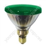 Sylvania Par 38 Lamp ES 80W - Colour Green