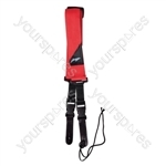 Nylon Guitar Strap With Quick Release and Leather Ends - Colour Red