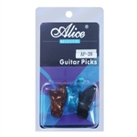 Set of 3 Celluloid Guitar Thumb Picks