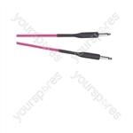 Premium Florescent Coloured Guitar Lead 6m - Colour Pink