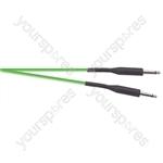 Premium Florescent Coloured Guitar Lead 6m - Colour Green