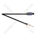 Professional 6.35 mm Jack Plug to 4 Pole Speakon Plug Speaker Lead With Neutrik Connectors and 2x 1.5mm Highflex Cable - Lead Length (m) 6