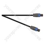 Professional 4 Pole Speakon Plug to 4 Pole Speakon Plug Speaker Lead 4x 2.5mm Cable - Lead Length (m) 1