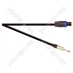 Professional 6.35 mm Jack Plug to 4 Pole Speakon Plug Speaker Lead With Neutrik Connectors and 2x 2.5mm Highflex Cable  - Lead Length (m) 10