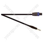 Professional 6.35 mm Jack Plug to 4 Pole Speakon Plug Speaker Lead With Neutrik Connectors and 2x 2.5mm Klotz Cable  - Lead Length (m) 5