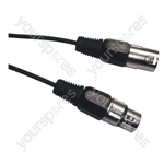 DMX 3 Pin XLR to 3 Pin XLR Lighting Lead - Length (m) 0.75