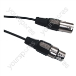 DMX 3 Pin XLR to 3 Pin XLR Lighting Lead - Length (m) 1.5