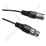 DMX 3 Pin XLR to 3 Pin XLR Lighting Lead - Length (m) 10