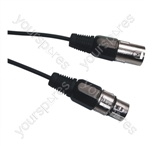 DMX 3 Pin XLR to 3 Pin XLR Lighting Lead - Length (m) 20