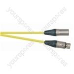 Professional 3 Pin XLR Patch Lead With Neutrik Connectors - Colour Yellow