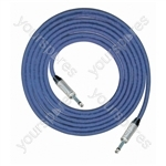 Professional 6.35 mm Mono Jack Plug 6.35 mm Mono Jack Plug Screened Patch Lead With Neutrik Connectors 1m - Colour Blue
