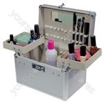 Electrovision Large 2 Tier Aluminium Cosmetics Case