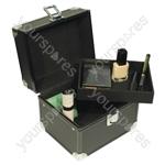 Electrovision Compact Black Aluminium Cosmetics Case