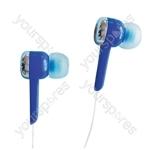 Isolation Digital Stereo Earphones - Colour Blue
