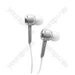 Isolation Digital Stereo Earphones - Colour Silver