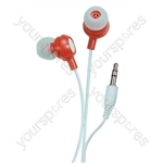 Bud Type Digital Stereo Earphones - Colour Risky Red