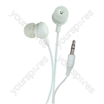 Bud Type Digital Stereo Earphones - Colour Wicked White