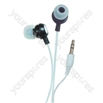 Bud Type Digital Stereo Earphones - Colour Brilliant Black