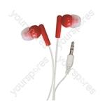 In-Ear Stereo Earphones - Colour Red