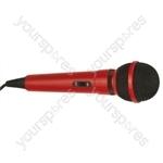 Dynamic Handheld Karaoke Microphone - Colour Red