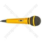 Dynamic Handheld Karaoke Microphone - Colour Yellow