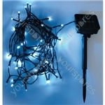Eagle LED Solar Powered Outdoor String Lights 50 LED's 6m Length - Colour Blue