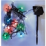 Eagle LED Solar Powered Outdoor String Lights 200 LED's 20m Length - Colour Multi