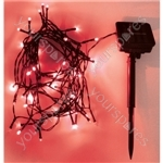 Eagle LED Solar Powered Outdoor String Lights 200 LED's 20m Length - Colour Red