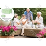 St Helens Home and Garden Water Resistant 2 Piece Ottoman Small Corner Cover Set