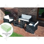 St Helens Home and Garden Water Resistant Large Garden Set Cover - Will Cover 4 Pieces