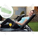 St Helens Home and Garden Water Resistant Lounger Cover