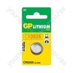 GP Lithium Button Cell Blister of 1 - Type CR2025-C1