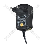 Multi-Voltage 1000ma Regulated Switch Mode Power Supply Euro Plug