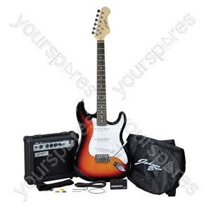 Johnny Brook Sunburst Guitar Kit with 15W amplifier