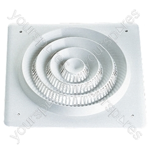 Plastic Square Ceiling Grill for 200 mm Driver
