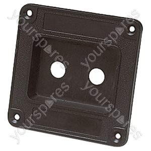 Plastic Connector Dish for 2x 6.35 mm Sockets