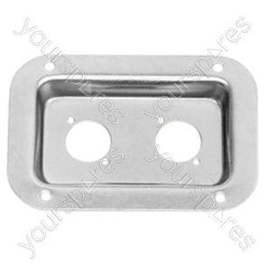 Zinc connector dish for Neutrik 'D' socket with fixing screws