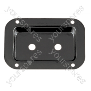 Connector dish for jack socket with fixing screws