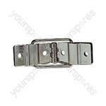 Nickel Heavy Duty Metal Case Hinge for 95 Degree Lid Opening