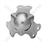 Zinc Ball Corners With Fixing Screws Set of 4