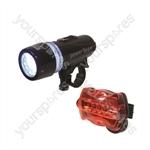 Eagle LED Front & Rear Cycle Light Set
