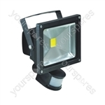 LED Flood Lights With PIR and PIR Override Facility - Lamp Type 20W LED