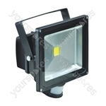 LED Flood Lights With PIR and PIR Override Facility - Lamp Type 30W LED