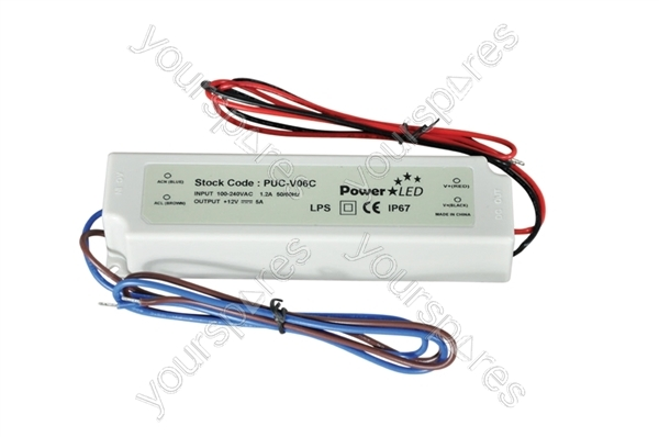 60w 12v 5a Ip64 Rated Constant Voltage Led Lighting Power
