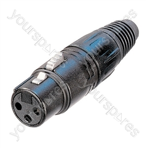 Neutrik NC3FX-B Female 3 Pin XLR Line Socket With Gold Plated Contacts